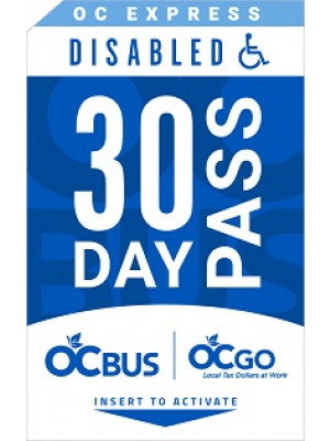 OC EXPRESS DISABLED 30DAY PASS